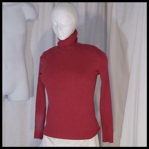 EUC Red Knit Turtleneck XL